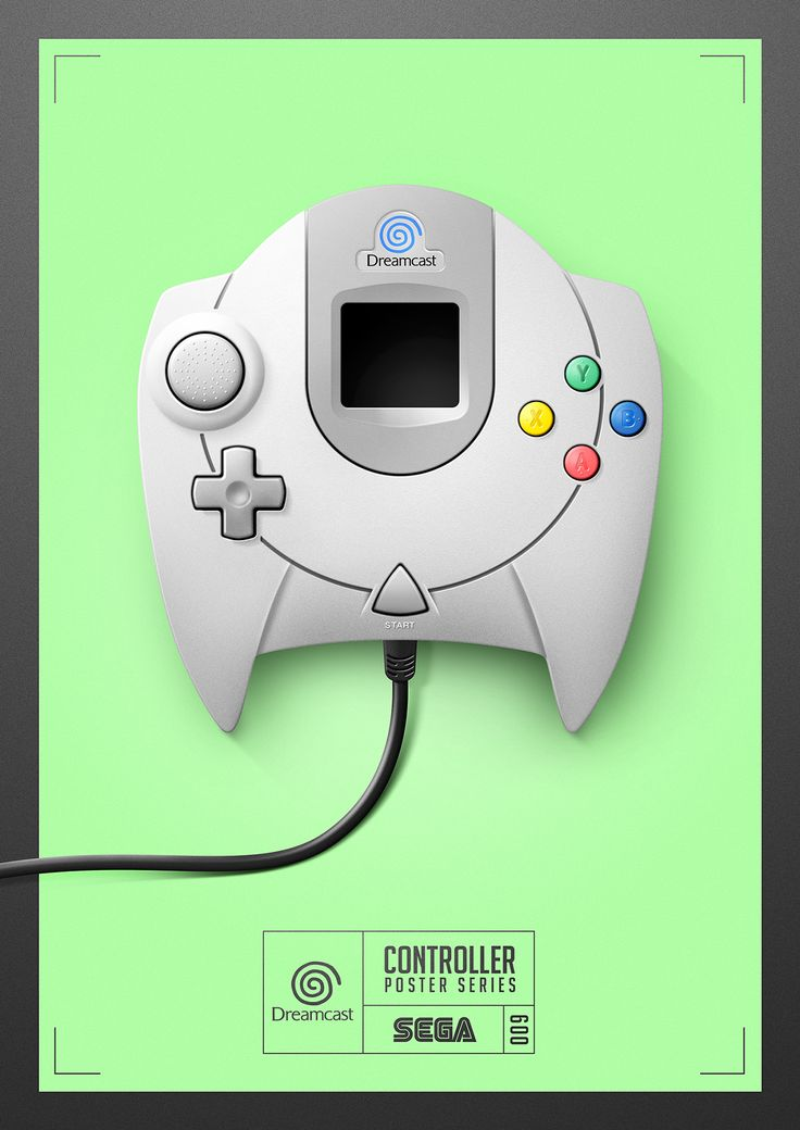 #Dreamcast - Controller Poster Series 009 by Quentin Fevre on Behance