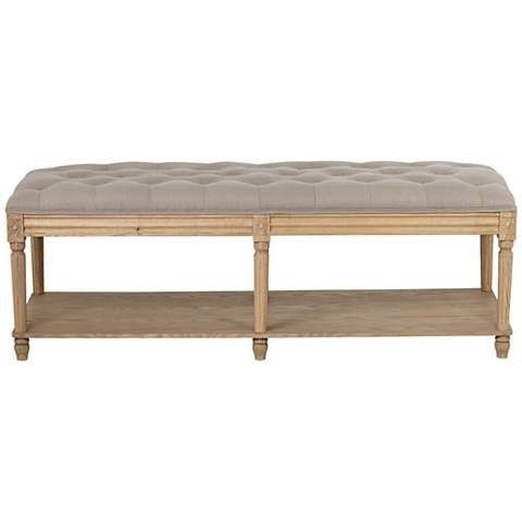 For ifo sofa, with trunks underneath.....Athena Ash Wood Tufted Bench - #5V860 | LampsPlus.com