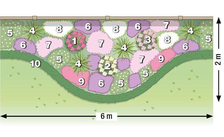 zum nachpflanzen rosen und stauden gekonnt kombiniert. Black Bedroom Furniture Sets. Home Design Ideas