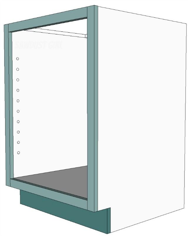 Cabinet Plans How to build and attach a cabinet faceframe - free and easy plans from sawdustgi...