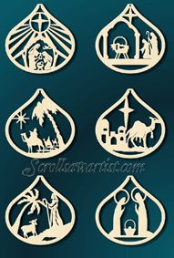 Scroll Saw Patterns :: Holidays :: Christmas :: Plaques & other projects :: Nativity scene -