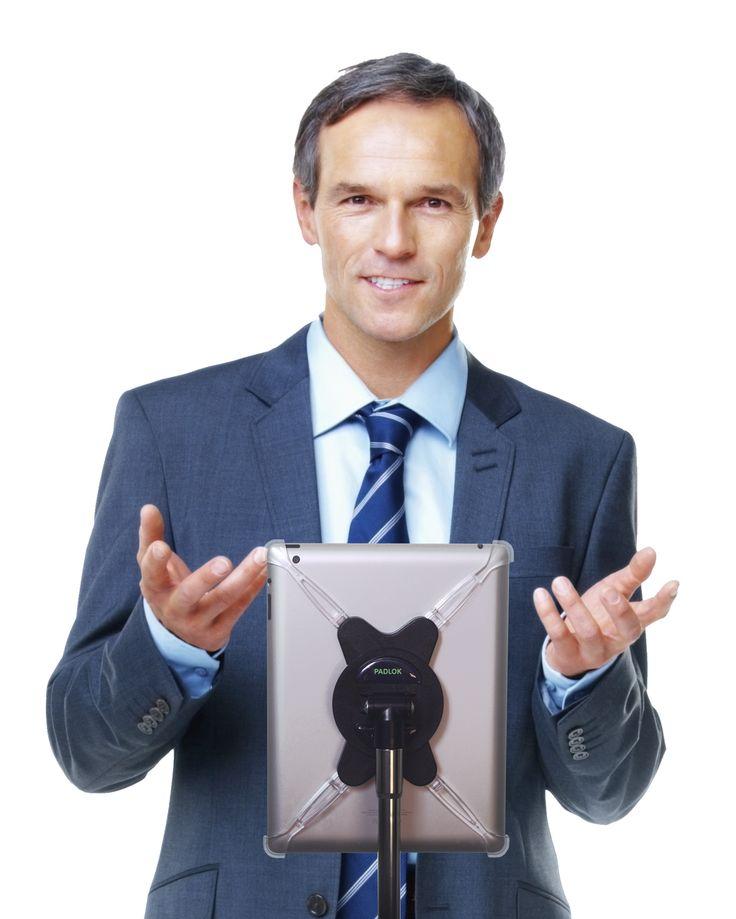 AirTurn - Padlok iPad Mount, $49.00 (http://store.airturn.com/padlok-ipad-mount/)