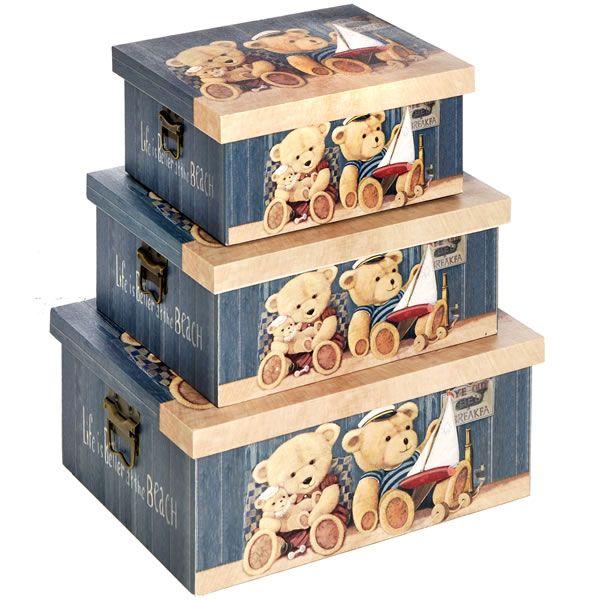 Set 3 Teddy Bear Boxes