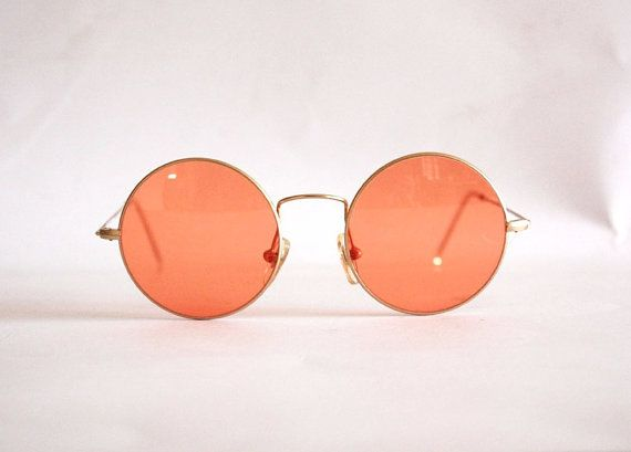Vintage Sunglasses Planet mod. 21004 John Lennon Style Hippie Teashades. Made in Italy on Etsy, $54.27