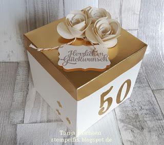 Stempelfix: Explosionsbox zum Geburtstag, Jugendweihe und goldene Hochzeit (Diy Gifts Anniversaries)