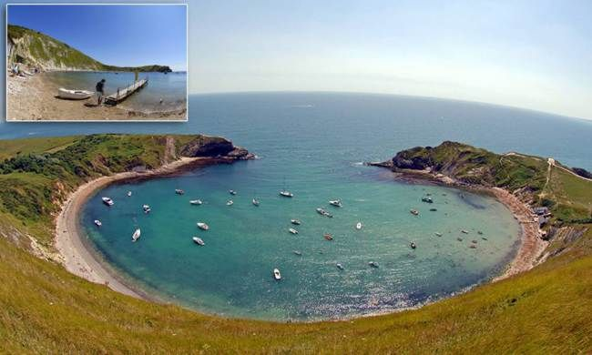 Lulworth Cove, Dorset  Known as one of the seven wonders of the UK (apparently) this dreamy beach welcomes half a million tourists a year – it's also super close to Durdle Door, another one of the beautiful beaches on this list.