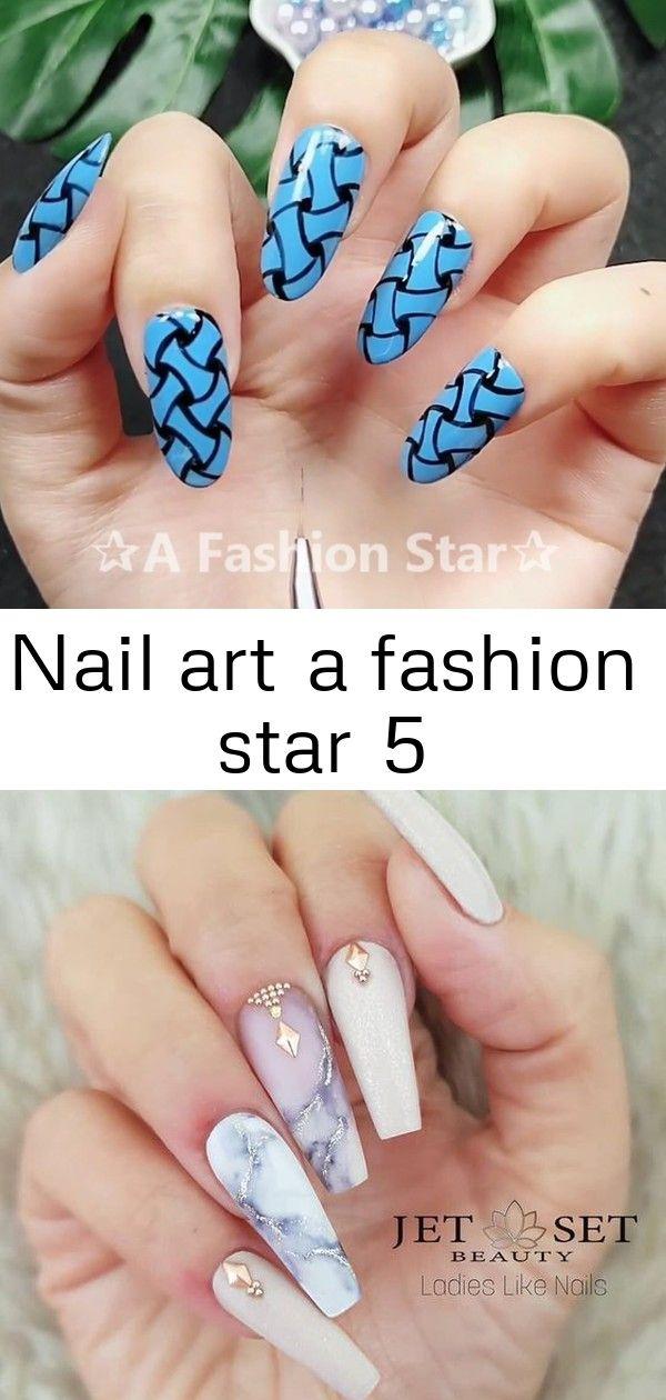 Nail Art A Fashion Star 5 Star Nail Art Birthday Nail Designs Birthday Nail Art