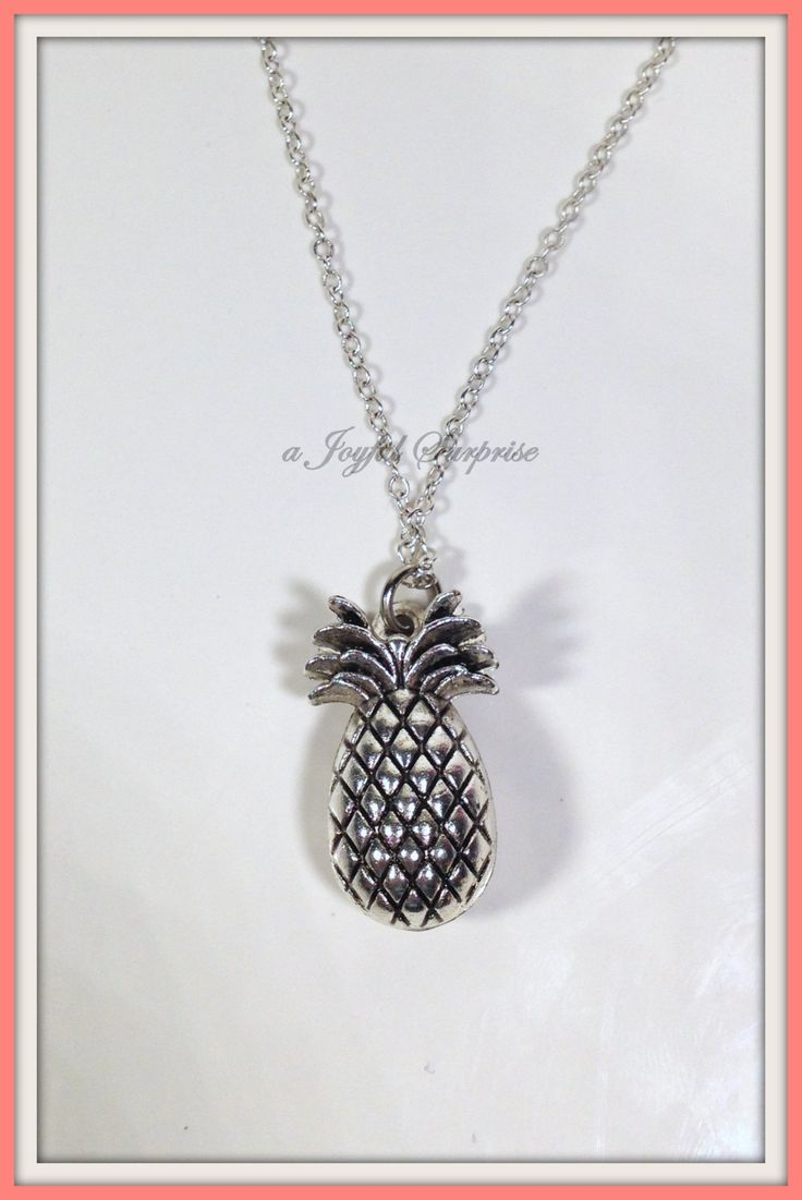 Pineapple Necklace, Pineapple Gifts, Pineapple Jewelry,Fruit Food,Pineapple necklace  can be customized -N1199 by aJoyfulSurprise on Etsy