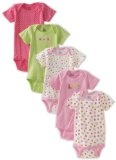 Gerber Baby-Girls Newborn 5 Pack Variety Flowers Onesie