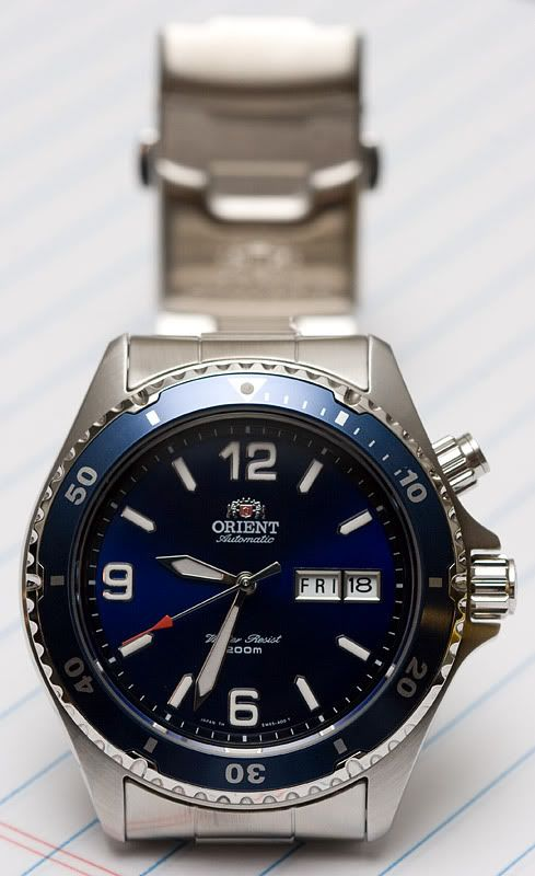 Orient Blue Mako, perhaps the best selling automatic watch of all time.