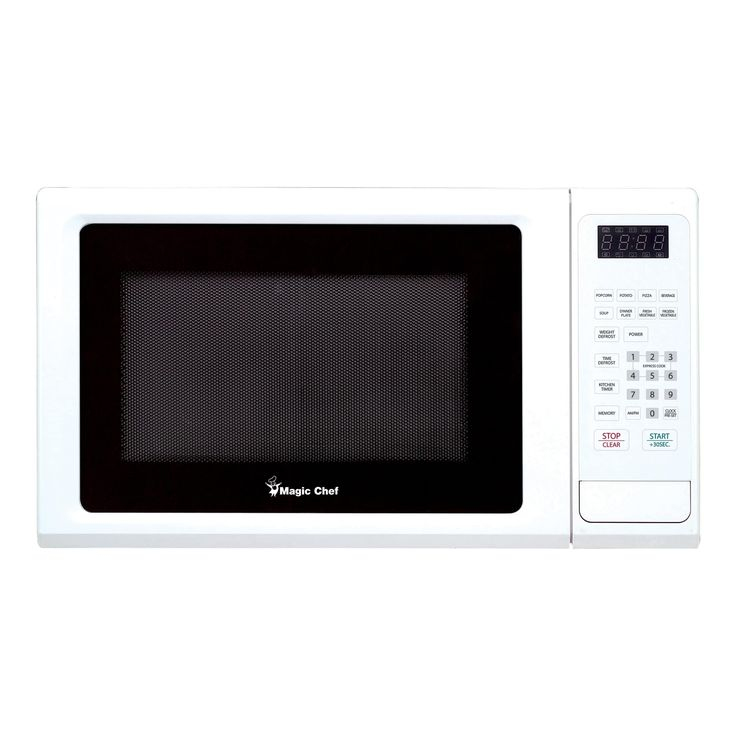 Magic Chef 1.1 Cubic Ft. Countertop Microwave Oven - White (Glass)