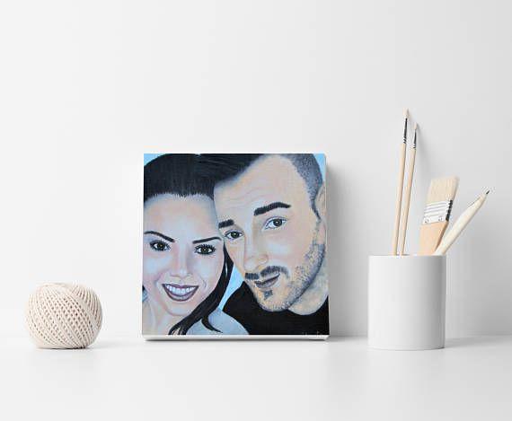 Custom face portrait Couple painting Face painting Couple