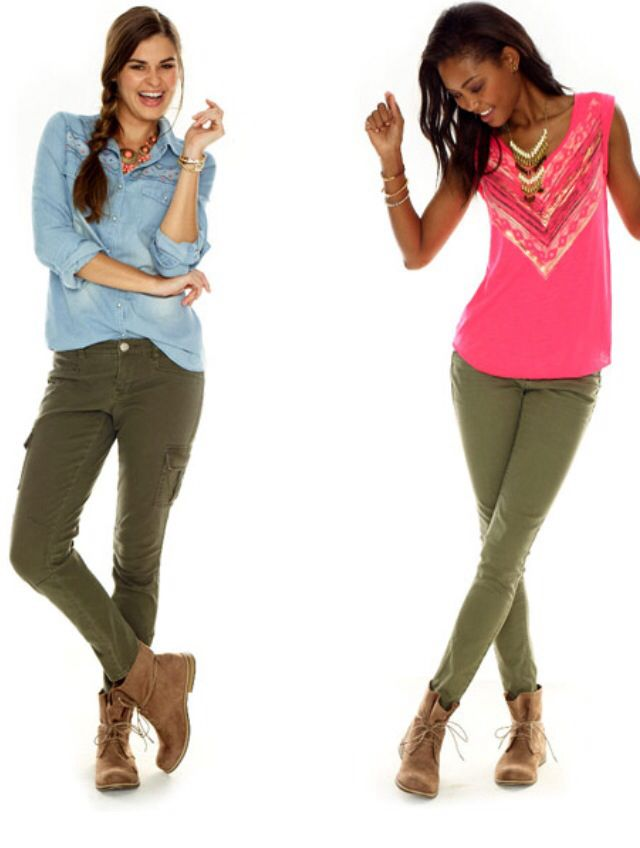 Olive Green Pants Never Thought To Wear Them With Pink But It