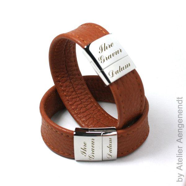 Armbänder - LA-N (C) Damen & Herren Lederarmband mit Gr... - ein Designerstück von Fotoschmuck24 bei DaWanda