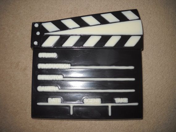 1 chocolate large 5x5 very thick 3d director clapboard