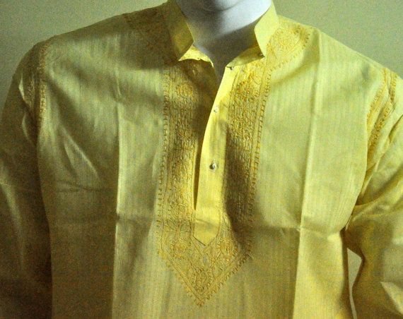 Coogi POLO Shirt Yellow S/S Embroidered INDIAN Mens (Australian 5XL) (US