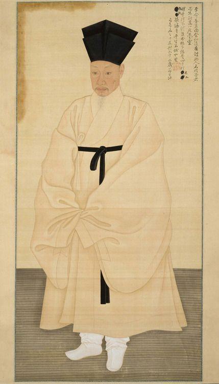 Yi Myeong-gi, & Kim Hong-do- Portrait of Seo Jik-su, 1796,...