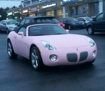 Pink Pontiac Solstice