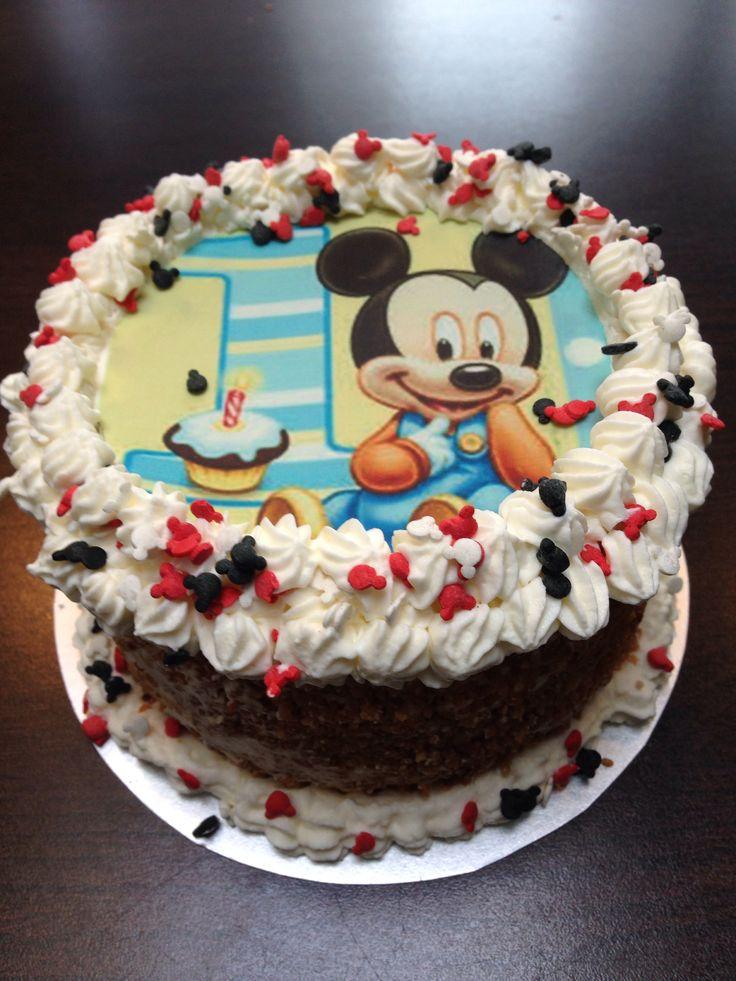 Slagroom meptaartje Mickey mouse