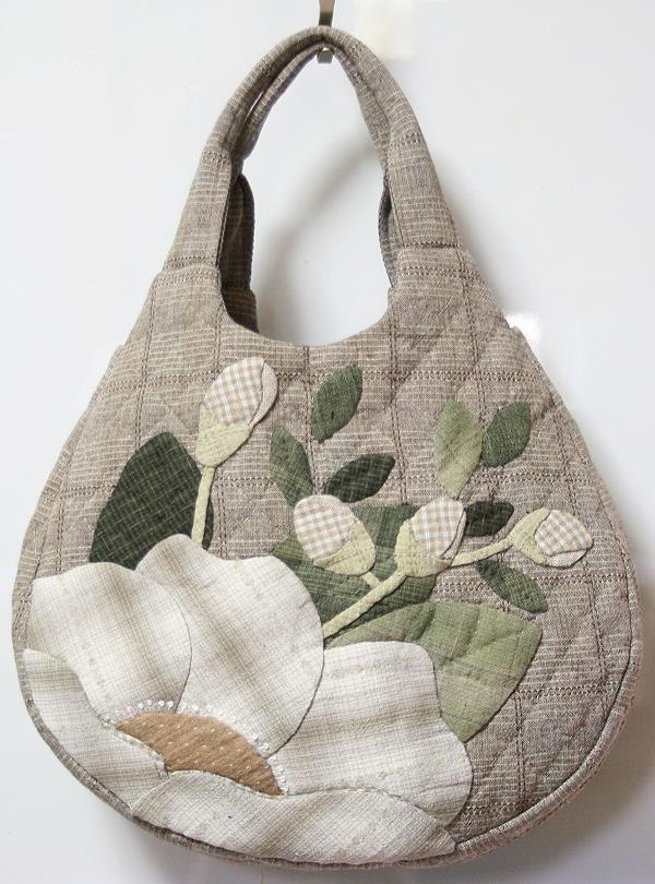 【預購】貝田明美 手提袋材料包/白色的山茶花_貝田明美的手提袋材料包 T系列_貝田明美的材料包_名師特區_小蜜蜂手藝世界 | 就是拼布精品 - Powered by ECShop