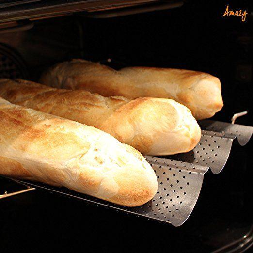 Amazy Baguette-Backblech – Die antihaftbeschichtete Back-Form zur Herstellung von Baguette und weiteren Gebäcken: Amazon.de: Küche & Haushalt