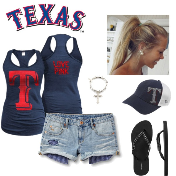 Even though its a Texas Rangers tank, I want it for the T! And the hat!