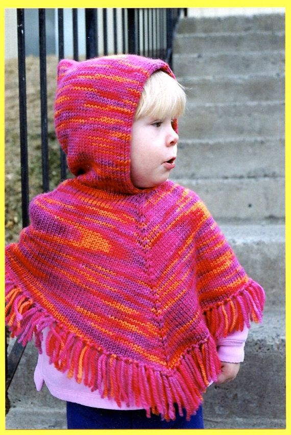 Knitting Pure & Simple Knitting Pattern #243 Childrens Poncho - Knit it Hooded or without Hood for Kids Sizes 2 - 12  Type: Knitting Pattern Leaflet  This listing is for the pattern only - not for the yarn or other materials, not for a finished product. These are unused retail copies, store sticker on front. No writing, no rips.  Design by Diane Soucy A fast to knit poncho written for worsted weight yarn at a gauge of 18 sts to 4 inches Knitted from the top down, it can be made with or…