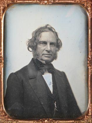 Henry Wadsworth Longfellow, 1850. Daguerreotype.: