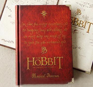 Vintage Look Hardcover Notebook Hobbit Memo Notepad Travel Journal