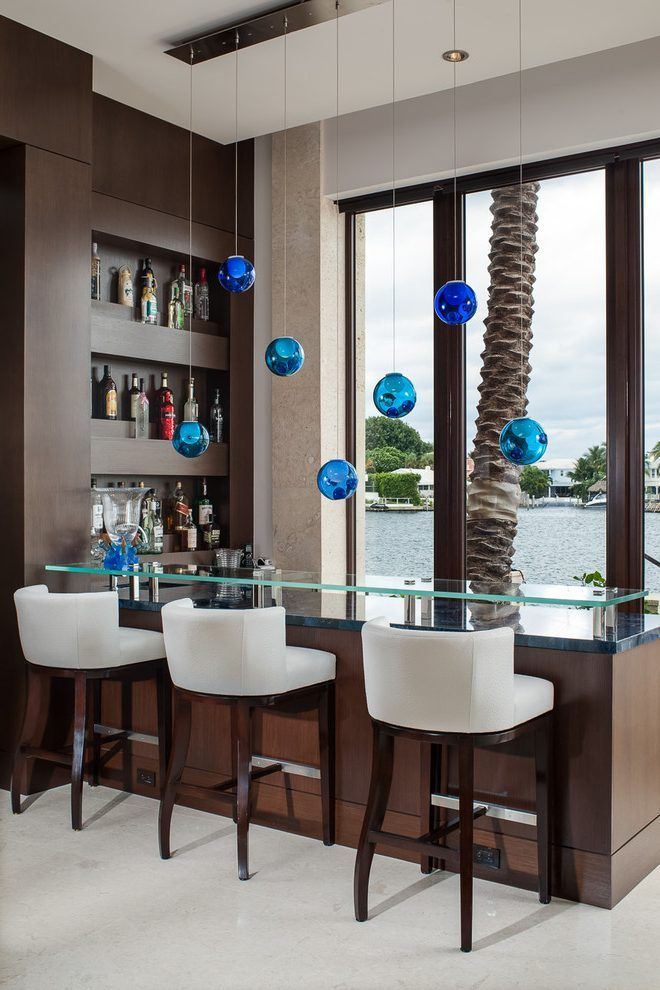 Houzz bar stools home bar contemporary with white counter stools recessed wall niche