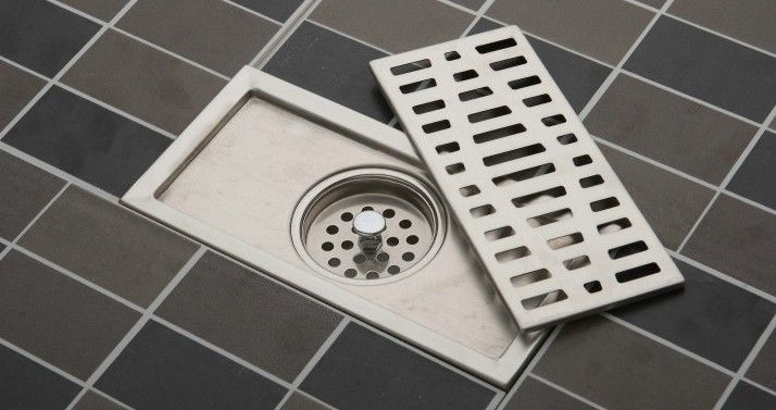 20cm x10cm large-traffic stainless steel bathroom shower square floor waste grate sanitary floor drain HH01 $14.99