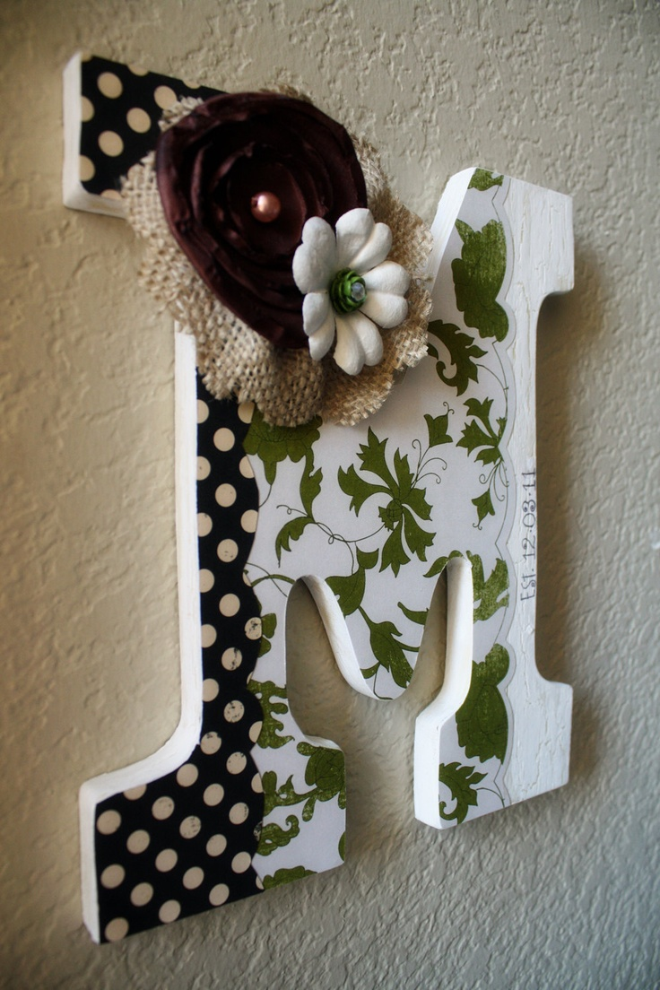 custom wooden wall letter wedding nursery home decor by lolamonkey 3000