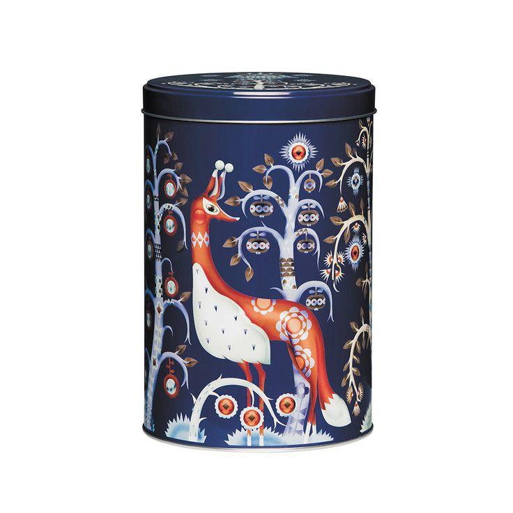 Discover the Iittala Taika Tin Box - Blue at Amara