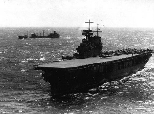World War II: USS Yorktown (CV-5): USS Yorktown (CV-5), April 1942