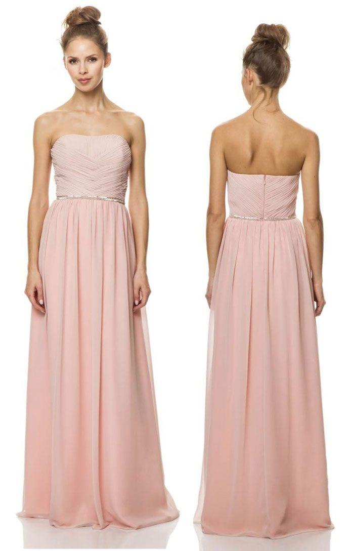 Bari Jay Bridesmaid Dress in pale pink // www.modernwedding.com.au/bari-jay-bridesmaid-dresses