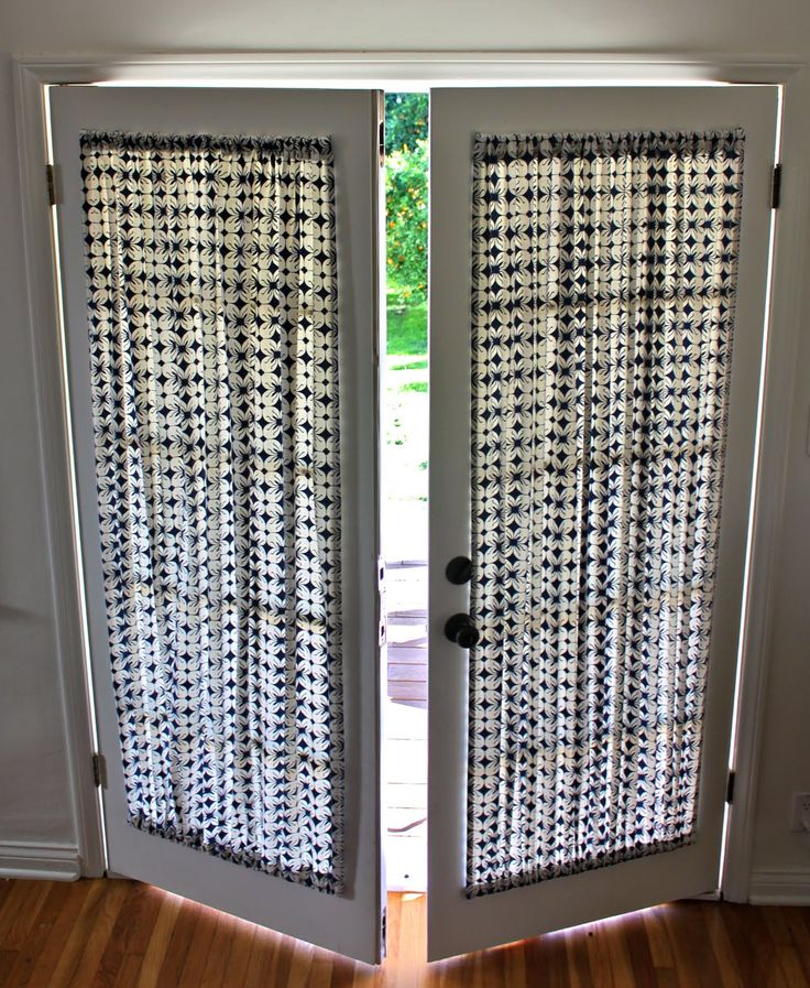 DIY French Door Curtain Panel Tutorial. Wonder if I can do this the no sew method..and double sided tape