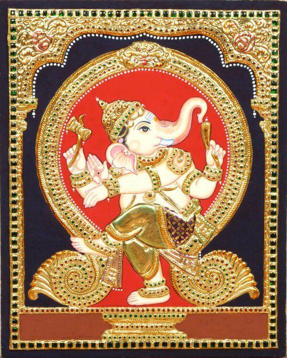 Tanjore Painting -Ganesha