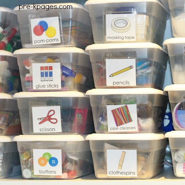 Printable Classroom Supply Labels for Preschool Art Supplies