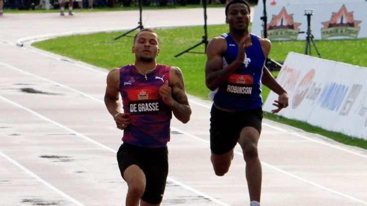 De Grasse wins 100M final in 10.11 at Canadian championships Markham sprinter had hoped to go below 10 seconds; Crystal Emmanuel takes women's title