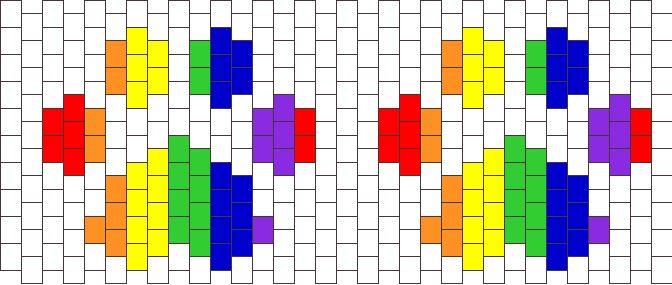 Rainbow Paws bead pattern