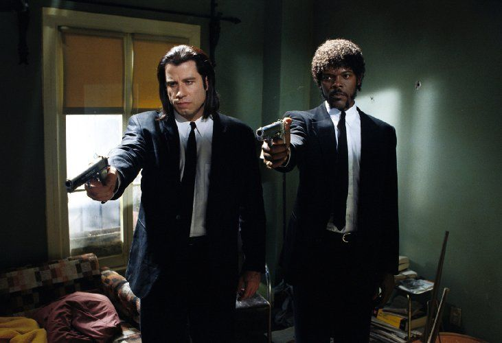 Samuel L. Jackson and John Travolta in Pulp Fiction (1994)