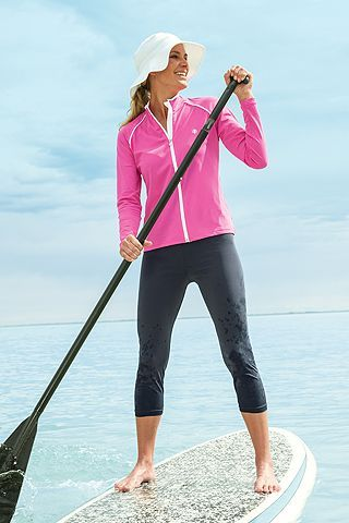 Perfect outfit with excellent UV protection. Protect your skin--wear a hat, long clothing and sunscreen. www.dcmf.ca