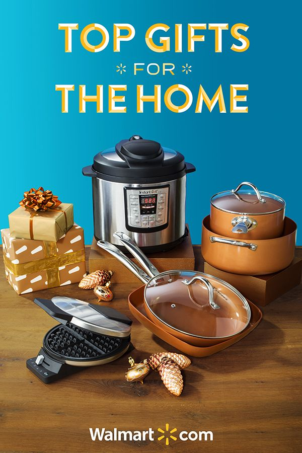 This season, give the top gifts for the kitchen to your favorite foodie. These amazing appliances are sure to add a little joy to someone's holiday season.  Shop today at Walmart.  Top Gifts for the Home include: Instapot Pressure Cooker, Copper Chef 9 piece Cookware Set and Cuisinart Waffle Maker.