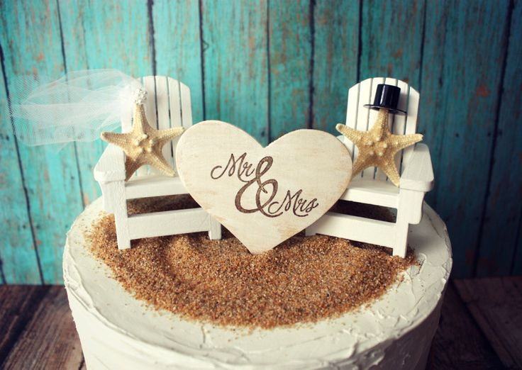 Adirondack beach wedding chairs-Adirondack chairs-wedding cake topper-beach chairs-beach wedding-destination wedding-beach-custom by MorganTheCreator on Etsy https://www.etsy.com/listing/160461540/adirondack-beach-wedding-chairs