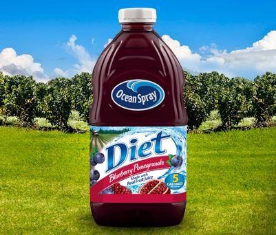 Diet Blueberry Pomegranate Juice Drink