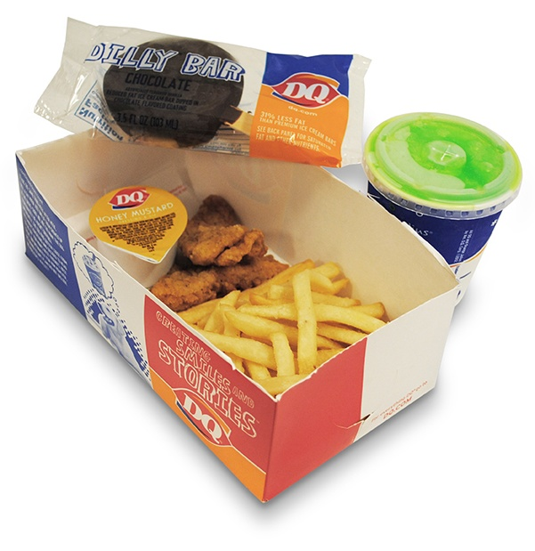 Dairy Queen's Kids' Meal With Chicken Strips, Fries, Dilly