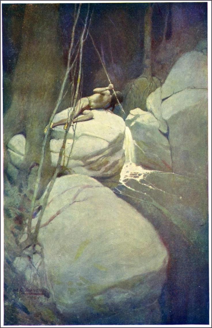N.C. Wyeth - Painting of Native American, 1907