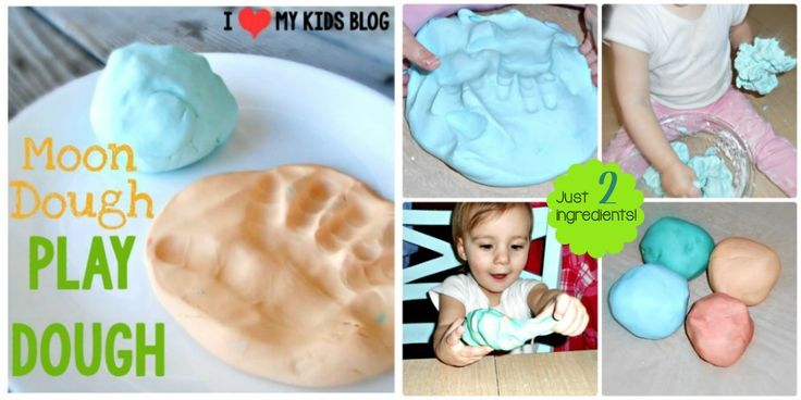Moon Dough play dough only 2 ingredients!! Conditioner and corn starch