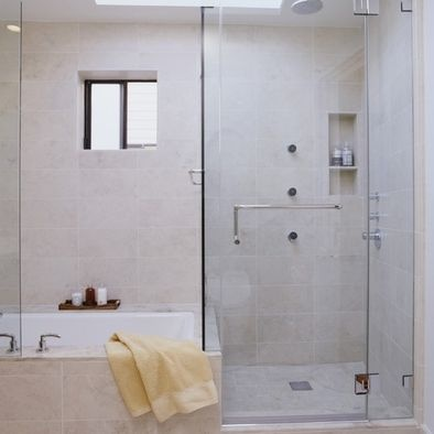 san francisco loft small tub and shower - Small Shower Baths
