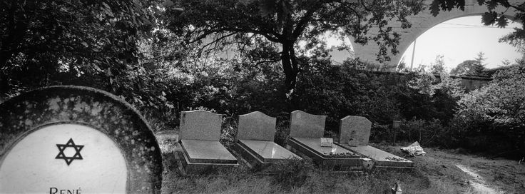 Magnum Photos - Patrick Zachmann. FRANCE. Carpentras. Jewish cemetery. 2000. I like the composition, depth of field and use of black and white for effect in this image.